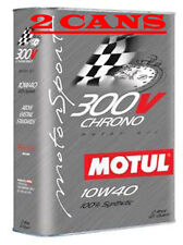 2 Motul 300V CHRONO 10W40 Synthetic Racing Motor Oil - 2 L Can Ea 103135/104243
