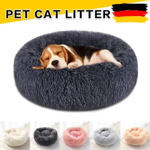 Hundebett S-XL Plüsch Katzenbett Hundekissen Hundekorb Schlafplatz Rund Donut