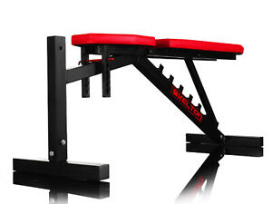 Heavy Duty Adjustable Weight Bench Gym Workout Flat Incline Decline Barbell Lift