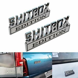 2pcs SHITBOX EDITION Emblem Decal Badge Stickers for GM GMC Chevy Car Truck 3D