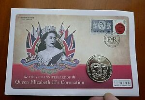2013 60th Anniversary  £5.00 in First Day Cover - Coronation Jubilee