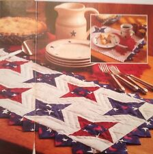 Friendship Star Table Runner And Placemats  Quilt Pattern Pieced