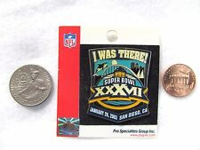 I Was There Superbowl XXXVII January 26 2003 USA Lapel Pin Pinback Hat Football
