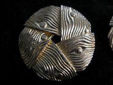 Estate Jewelry Earrings Lisner clip on back Basket Weave gold tone metal jewelry