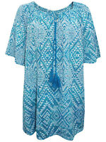 Catherines blouse tunic top plus size 16/18 20/22 24/26 28/30 32/34 turquoise