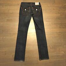True Religion Billy Skinny Straight Flap Pocket Denim Jeans Woman's Size 24
