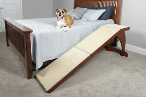 Pet Safe Dog Ramp - Carpeted Wood Ramp for Pets up to 120 lbs - Open Box