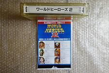 "World Heroes 2 ""Very Good Condition"" Snk Neo Geo MVS Arcade Game Japan"
