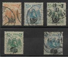 More details for albania 1920-21 used selection sg. 123, 126, 127, 136, 138.  (1099)