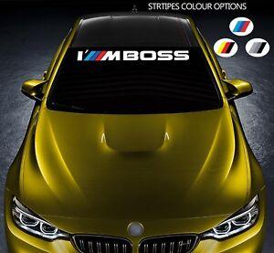 For BMW M Performance I'M Boss VINYL STICKER Windshield BANNER Windscreen DECAL
