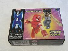 Diamond Select Marvel Minimates X-Men Juggernaut & Civilian Logan