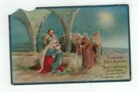 1913 antique embossed Christmas Post Card Mary Joseph Jesus Wise Men Star