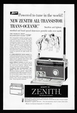 1958 Vintage Impresión Anuncio 15.2ms Zenith Radio Portátil Trans-Oceanic