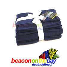 7 Piece Navy 100% Pure Indian Cotton Large Bath Towel Set Gift Set Indus Sands