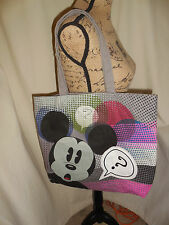 NWOT!  DISNEY MICKEY MOUSE CANVAS TOTE/BAG NEVER USED  EUC