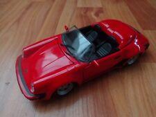 1/24 MAISTO CLASSIC - 1989 PORSCHE 911 SPEEDSTER RED - DIECAST MODEL CAR