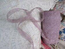 "Antique Valenciennes Lace Trim Cotton 5/8""Wide By the Yard Lavender Lilac"
