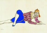 Nijinsky in Les Orientales Costume design by LEON BAKST Vintage Ballet Poster