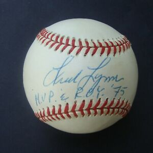 FRED LYNN  Signed baseball Autoraphed MVP ROY 75 COA