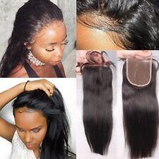 "8~20"" Silky Straight Lace Closure for Black Women Brazilian human hair Closure"