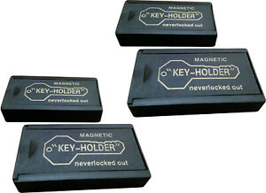 FOUR Jumbo Magnetic Key Holder Car Spare Hider Hidden Box Extra Case Box Locker