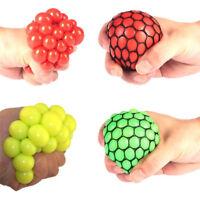 Squishy Mesh Ball Fidget Stress Toys Squishes Kids Fun Play Squeezy Gripper Ball