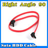 45CM Flat SATA 90 Right Angle Locking Serial ATA HDD SSD Power Data Cable Lead