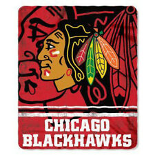 "Chicago Blackhawks 50""x60"" Rolled Fleece Throw Blanket - Fade Away Design"