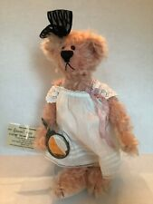 China Cupboard Bear Signed Cindy McGuire Abagail Rose Pink Mirror Movable Joints