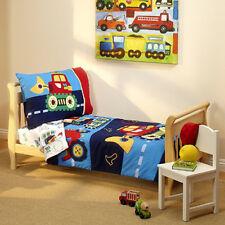Kid Under Construction Bedding Set 4pc Toddler Quilt Pillow Case Mattress Sheet