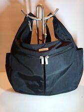 Baggalini Black Crossbody Handbag Purse Messenger Nylon Travel Satchel