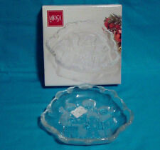 "Mikasa Carolers Christmas Holiday Sweet Candy Glass Serving Dish 8 1/4"" NEW NIB"