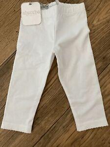 absorba white Baby Girl leggings  6 months 68 Cm   New