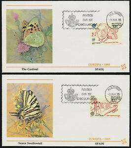 Spain 2408-9 on Butterfly Cachet FDC - EUROPA, Music, Orchestra