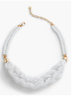 TALBOTS Braided Seed-Bead Necklace