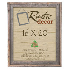 """16x20  - 2"""" Wide Signature Reclaimed Rustic Barn Wood Wall Frame"""