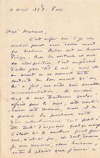 Odilon REDON / Lettre autographe signée / A propos de Stéphane Mallarmé. 1898