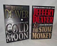 Stone Monkey Jeffery Deaver Lot Lincoln Rhyme Mystery Cold Moon Novel HBDJ 2