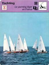 FICHE CARD Yachting Léger en France Finn Serge Maury Kiel 1972 Voilier Yacht 70s
