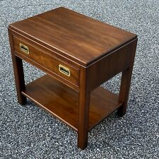 Vintage Solid Cherry ETHAN ALLEN Campaign Nightstand