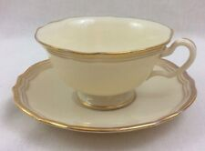 Vintage Lenox Tea Cup & Saucer Ivory with Gold Trim J374 from 1930-1953