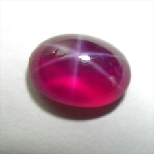4.02cts. RED STAR RUBY OVAL CABOCHON GEMSTONE JEWELRY ovale e'toile rubis rouge