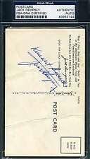 JACK DEMPSEY SIGNED PSA/DNA POSTCARD AUTHENTIC AUTOGRAPH