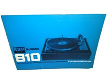 Bsr McDonald 810 Turntable Manual Owners Original Extras