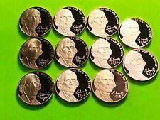 2007-S -2017-S Jefferson( Proof )Nickel Run. 11 Coins Gem Deep Cameo PROOFS.