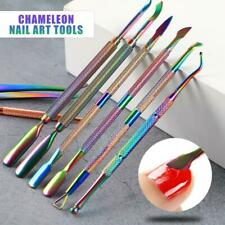 1PC Stainless UV Gel Nail Polish Remover Cuticle Pusher Manicure Tools Nail Art