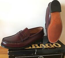 VTG SEBAGO MEN'S 8 EEE CLASSIC PENNY LOAFERS LEATHER SOLE NOS