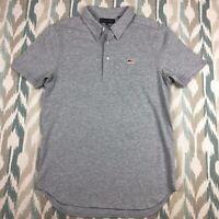 Five Four Men's Short Sleeve Gray Polo Shirt Size Small