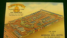 Mission Bell Motel San Francisco air view vintage linen #741