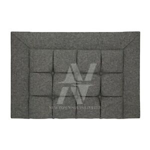 CUBIC HEADBOARD IN LINEN FABRIC FOR LUXURY DESIGNER BED